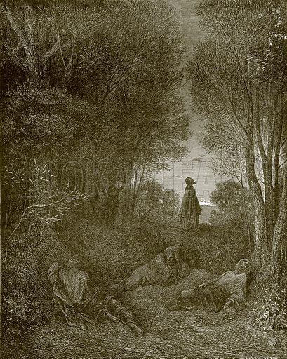 Christ in the garden. Young people