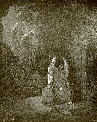 The Angel at the door of the sepulchre. Young people's Bible history (c 1900).