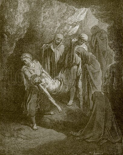 The burial of Christ. Young people's Bible history (c 1900).