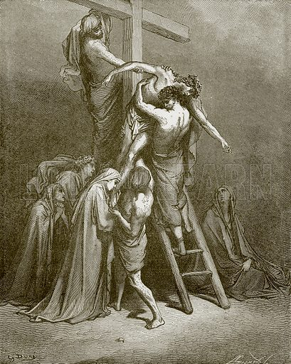 The descent from the cross. Young people's Bible history (c 1900).