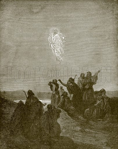The ascension. Young people's Bible history (c 1900).
