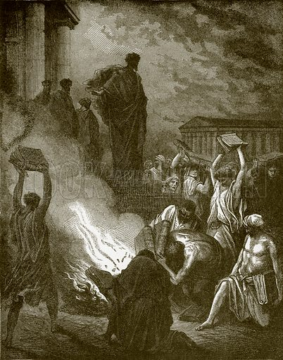 St. Paul at Ephesus. Young people's Bible history (c 1900).
