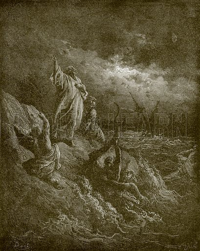 St. Paul shipwrecked. Young people's Bible history (c 1900).