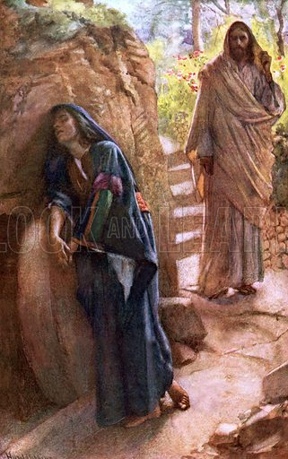 Mary Magdalene at the Sepulchre. Scenes in the Life of our Lord (Religious Tract Society, 1907).