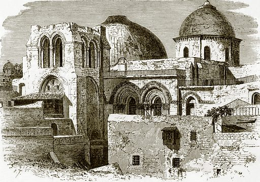 The church of the holy sepulchre at Jerusalem. All Round the World, First Series (1868).