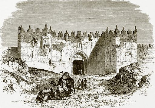 The Damascus gate, Jerusalem. All Round the World, First Series (1868).