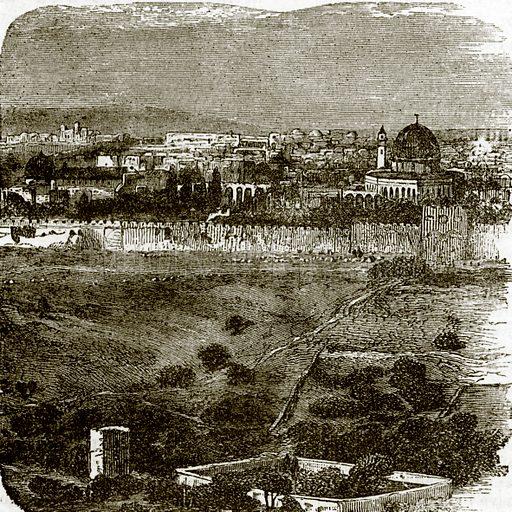 Garden of Gethsemane. All Round the World, First Series (1868).