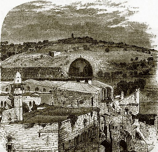 Mount of Olives from Jerusalem. All Round the World, First Series (1868).