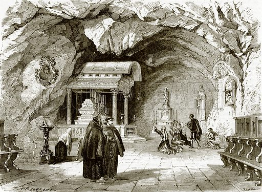 The chapel of St. Rosalia near Palermo, in Sicily. All Round the World, First Series (1868).