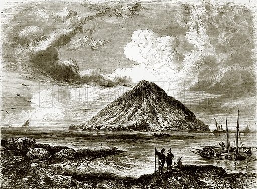 Stromboli – one of the Lipari isles, near Sicily. All Round the World, First Series (1868).