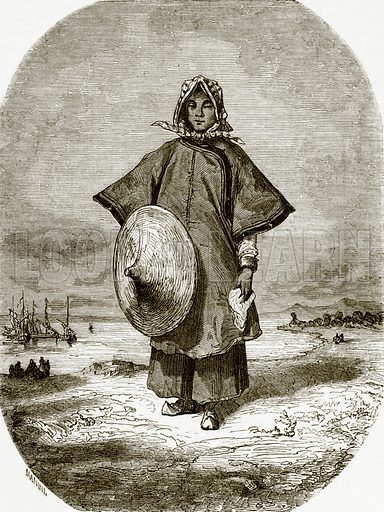 Chinese boat woman. All Round the World, First Series (1868).