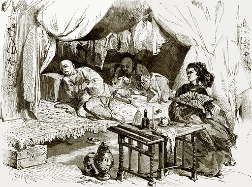 Opium smokers. All Round the World, First Series (186.