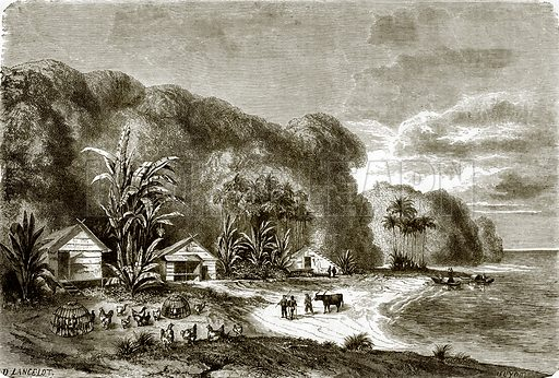Banks of the river Saigon. All Round the World, First Series (1868).