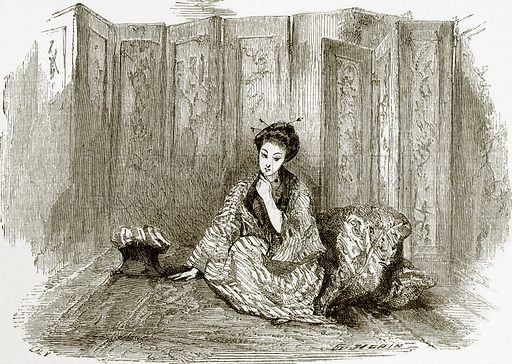 Japanese lady. All Round the World, First Series (1868).