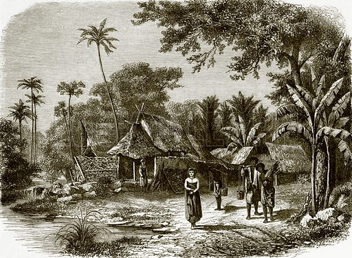 Village in Java. All Round the World, First Series (1868).