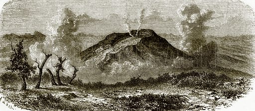 Volcano in Java. All Round the World, First Series (1868).