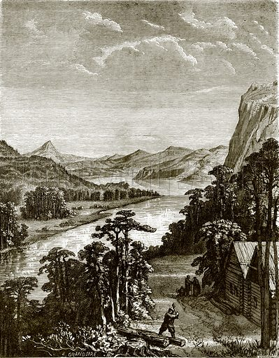 River Amoor and King-Gan mountains. All Round the World, First Series (1868).