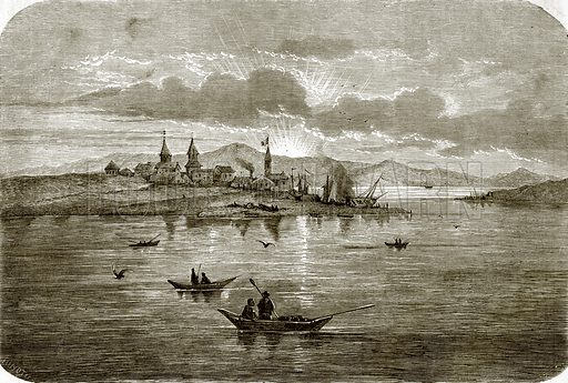 Port of Okhotsk. All Round the World, First Series (1868).