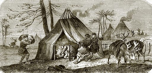 Tunguse encampment. All Round the World, First Series (1868).