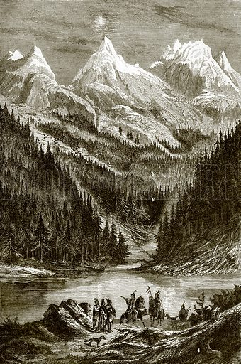 Rocky mountains. All Round the World, First Series (1868).