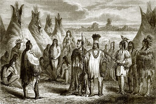 Group of Indians. All Round the World, First Series (1868).