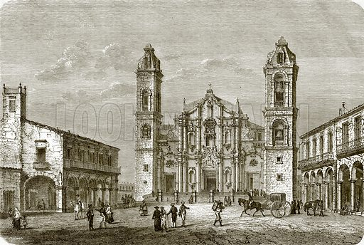 The cathedral of Havana. All Round the World, First Series (1868).