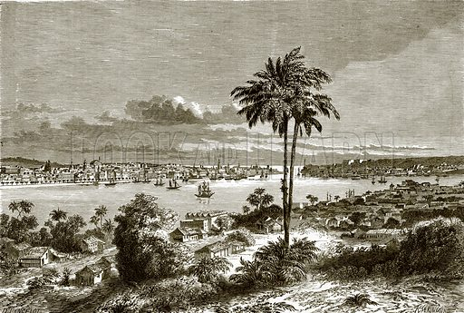 View of Havana, the capital of Cuba. All Round the World, First Series (1868).