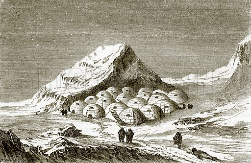 Snow huts of the Esquimaux. All Round the World, First Series (1868).