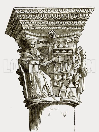 Capital in the palace at Ragusa. All Round the World, First Series (1868).