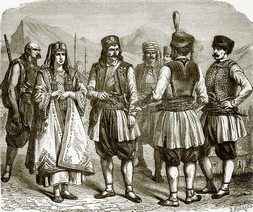 Montenegrins. All Round the World, First Series (1868).
