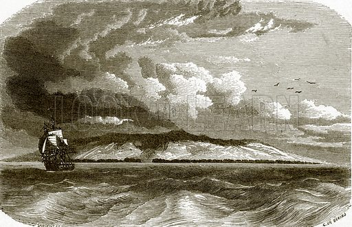 Chatham island. All Round the World, First Series (1868).