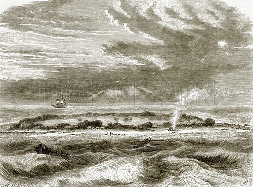 Whitsunday island. All Round the World, First Series (1868).