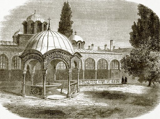 Baptistry or Phiale of Saint Laura. All Round the World, First Series (1868).