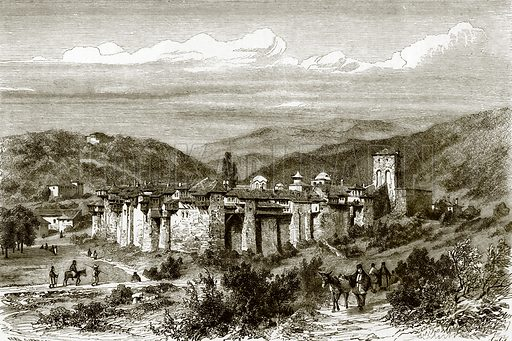 Monastery of Iveron. All Round the World, First Series (1868).