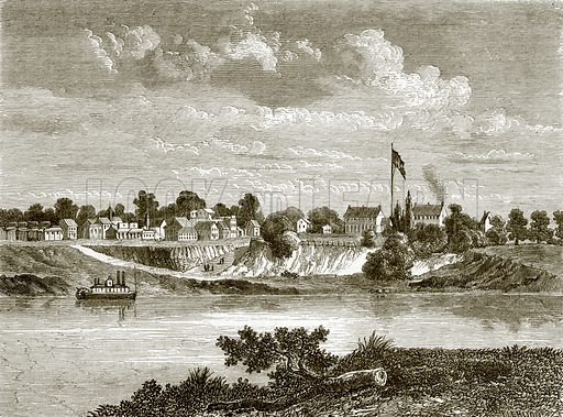 Fort Smith, on the Arkansas. All Round the World, First Series (1868).