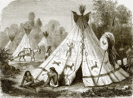 Camp of Comanche Indians. All Round the World, First Series (1868).