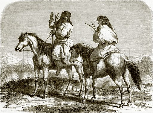 Comanche Indians. All Round the World, First Series (1868).