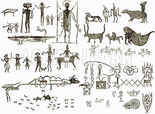 Indian Hieroglyphs. All Round the World, First Series (1868).