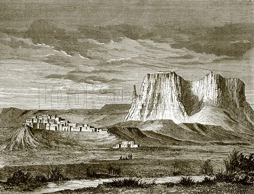 Town of Zuni. All Round the World, First Series (1868).