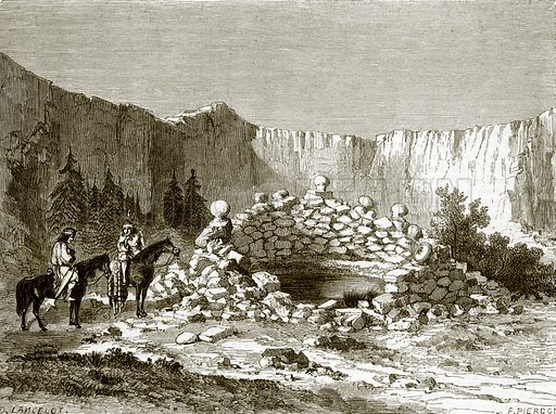 Holy well at Zuni. All Round the World, First Series (1868).