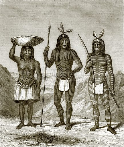 Mohave Indians. All Round the World, First Series (1868).