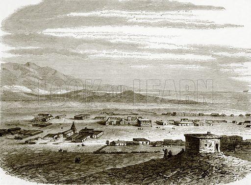 Pueblo de los Angeles. All Round the World, First Series (1868).