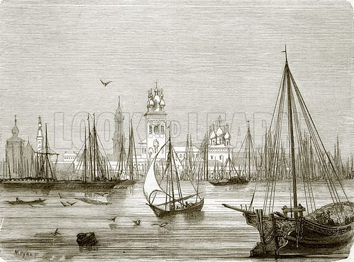 View of Astrakhan. All Round the World, First Series (1868).
