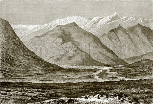 Valley of Nukha. All Round the World, First Series (1868).