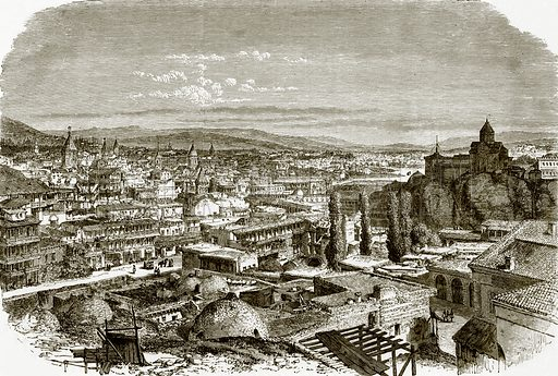View of Tiflis. All Round the World, First Series (1868).