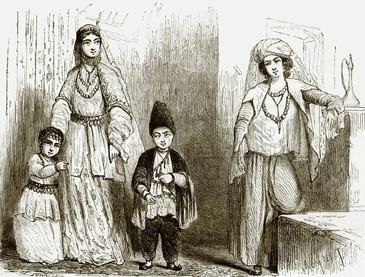 Costumes of Baku. All Round the World, First Series (1868).