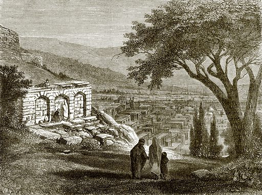 View of Shumakhi. All Round the World, First Series (1868).