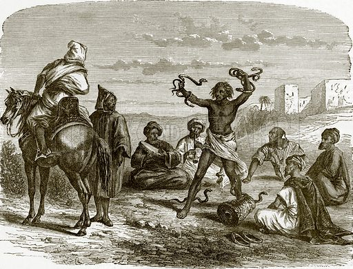 Serpent charmers. All Round the World, First Series (1868).