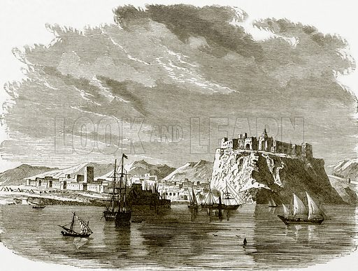 View of Sallee and Rabat. All Round the World, First Series (1868).