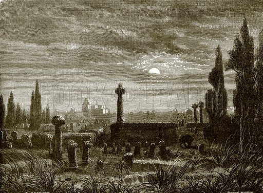 Cemetery at Mogador. All Round the World, First Series (1868).